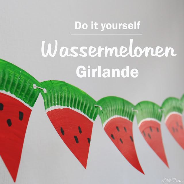 Wassermelonen - DIY - Girlande - Gartenparty