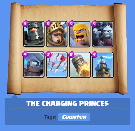 Clash Royale best deck Arena 7