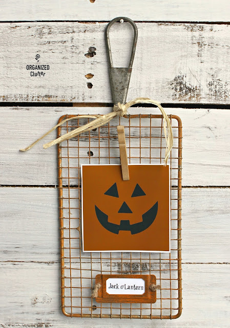 Repurposed Safety Grater Jack o'Lantern Project www.organizedclutter.net