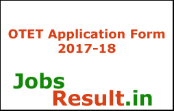 OTET Application Form 2017-18