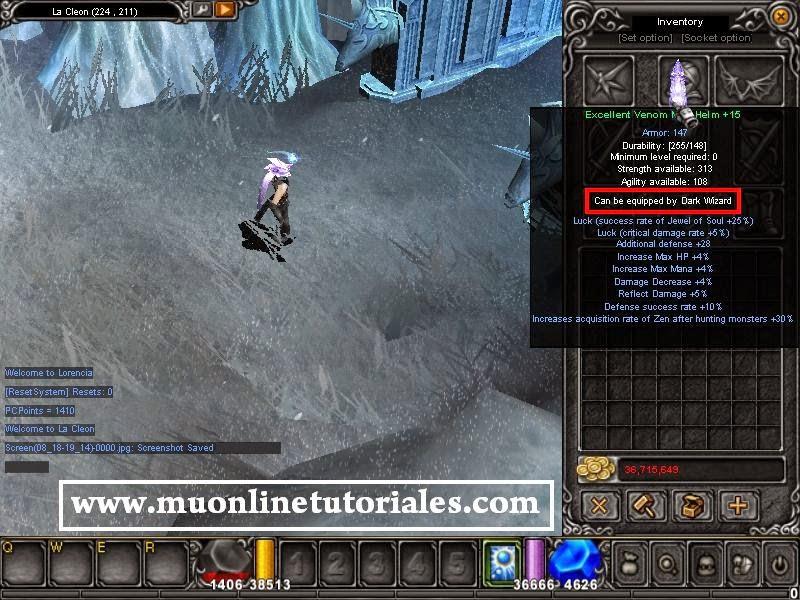 Verificando los cambios dentro del juego mu online