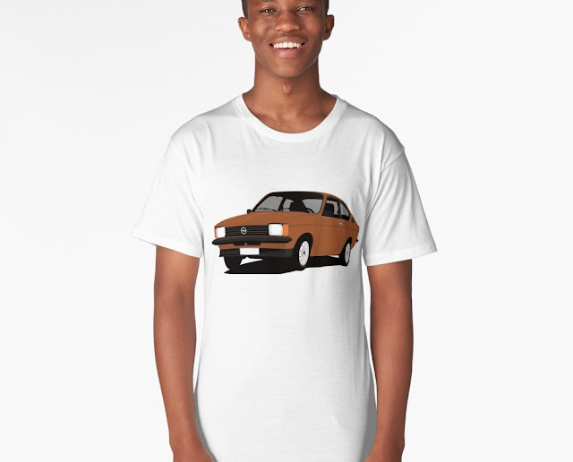 Opel Kadett C Coupe t-shirt brown