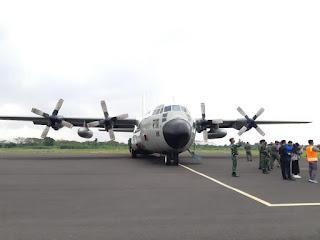 Pesawat Hercules C-130 milik TNI Angkatan Udara