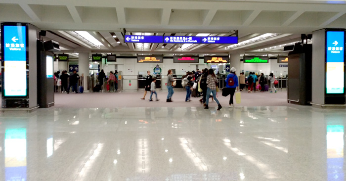 Honkong International Airport Immigration Hall