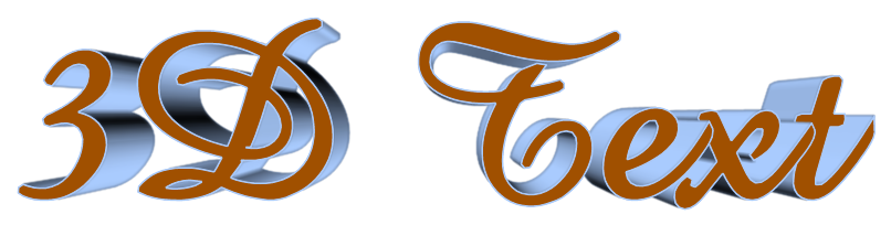 Text Effect Tutorials: 3D perspective text maker online