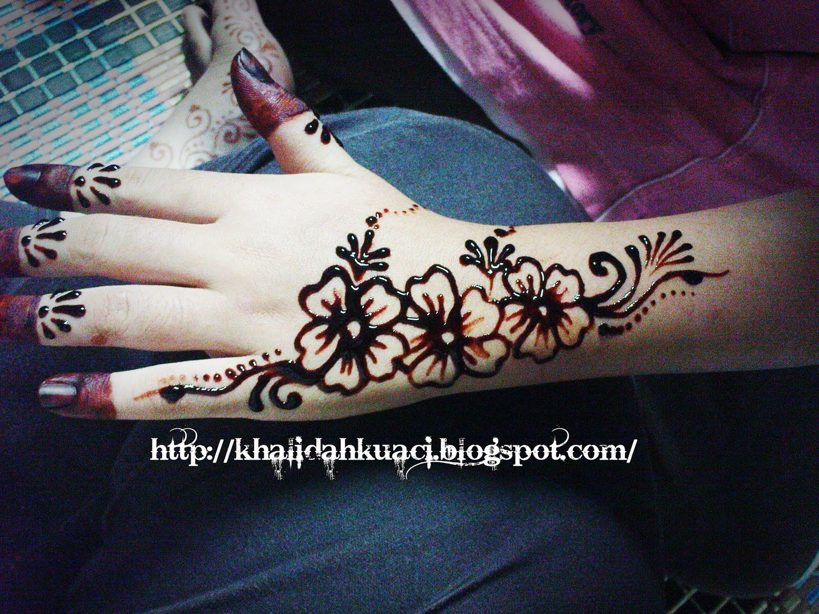 Henna Simple Di Jari Tangan Makedes Com