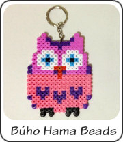 Búho Hama Beads
