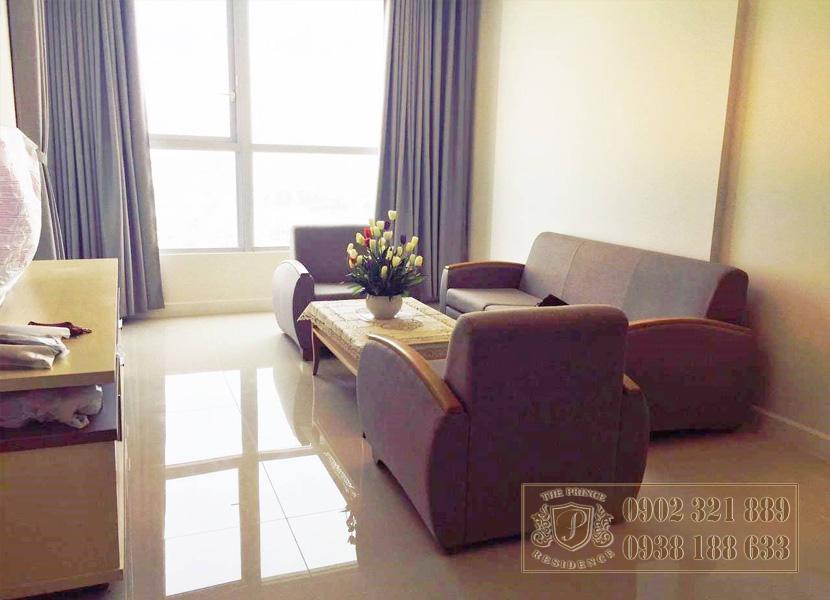 Bán căn hộ The Prince Novaland 3 phòng ngủ - sofa phòng khách