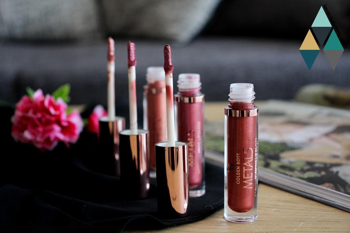 revue beauté rouge à lèvres scintillants métalliques Metals Shine Lipgloss