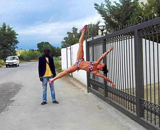 Fotos sorprendentes de todo lo que las personas pueden hacer con sus cuerpos