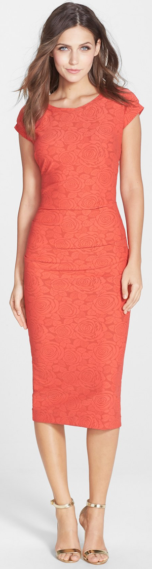 Nicole Miller 'Feliz' Knit Jacquard Cutout Body-Con Dress