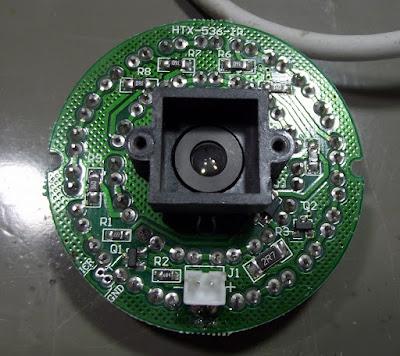 Câmera CFTV ALT1400W placa dos LEDs