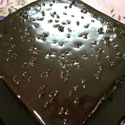 Cake Chocolate Moist With Chocolate Ganache