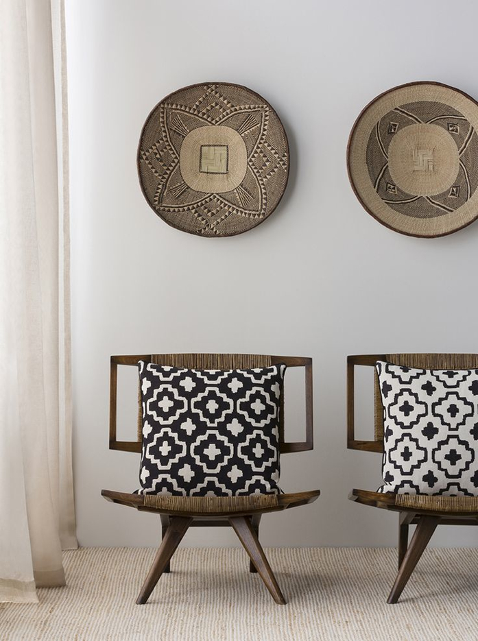 A nod to African design, the tribal aesthetic is rich in colour and patterns, incorporates textural items, masks, and other beautiful hand carved pieces.