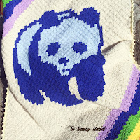 C2C Blue Panda Blanket