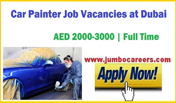 Latest job vacancies in Dubai, Dubai Car painter jobs with salary, car painter Salary in Dubai.