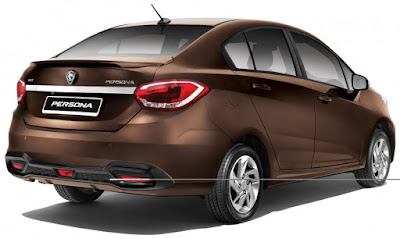 New 2016 Proton Persona  right side rear view