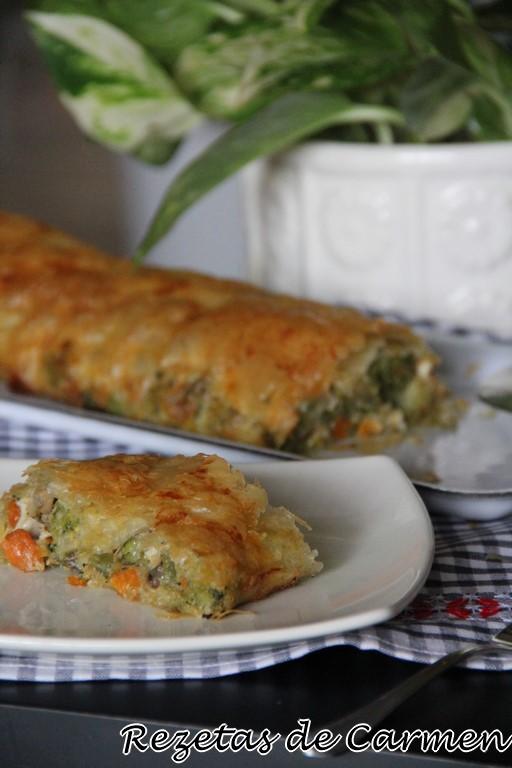 Rezetas de carmen strudel de verduras con queso de cabra - Beneficios queso de cabra ...