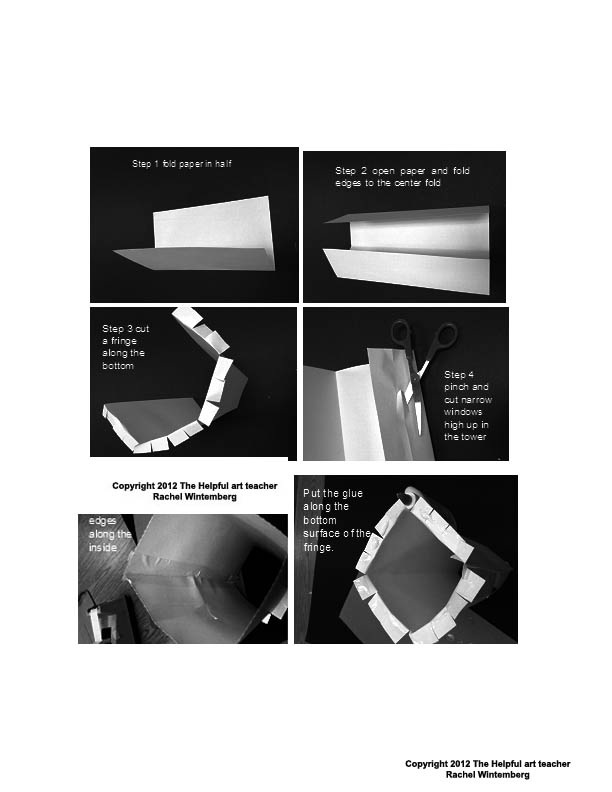 how to build a paper bridge step by step