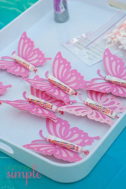 This simple butterfly craft also serves as a treat. Cut butterflies with your Silhouette.