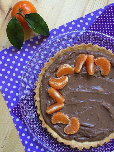 tarta de chocolate y mandarina receta