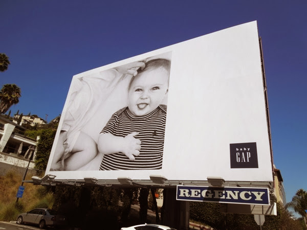 Baby Gap Black White FW 2013 billboard