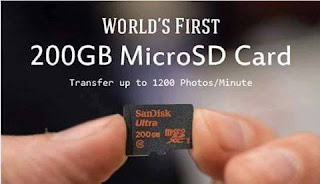 World's First 200GB Micro SD Card