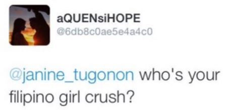 Janine Tugonon Admits Having A Girl Crush On Kathryn Bernardo!