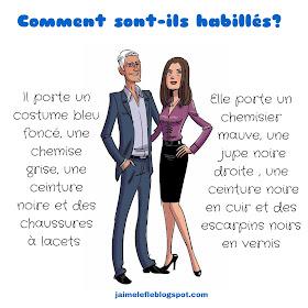 Ubrania - opisy 3 - Francuski przy kawie