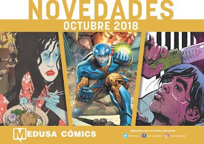 Medusa Cómics anuncia sus lanzamientos de cara a octubre de 2018.