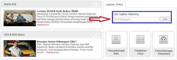Cara Cek Tagihan / Tunggakan Listrik PLN Secara Online