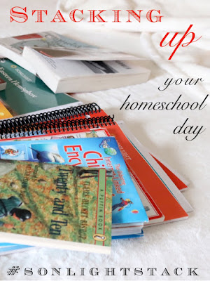 Stacking Up Your Homeschool Day with Sonlight