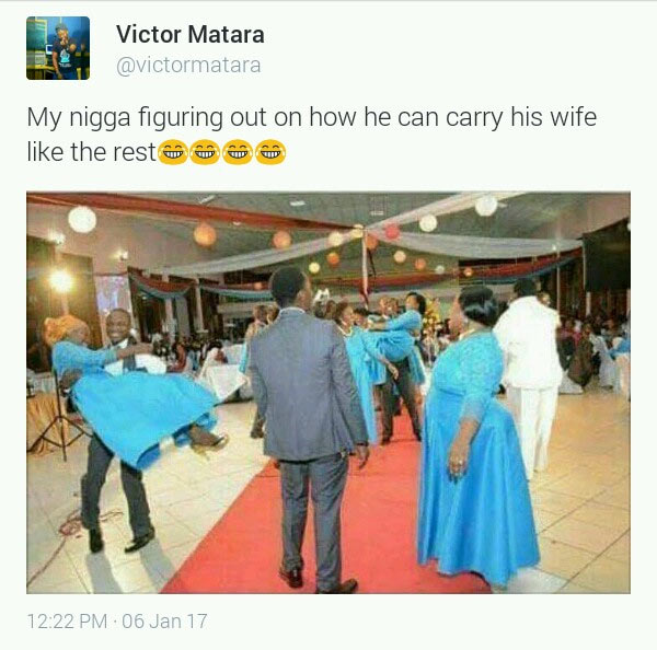 Check out what happened when Nigerian man is told to lift his wife