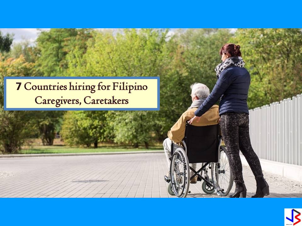 If you want to work as a caregiver or caretaker abroad, the following are countries with job orders approved by the Philippine Overseas Employment Administration (POEA) this month of July!   DISCLAIMER: Job listing below is from the website of Philippine Overseas Employment Administration (POEA). Please be reminded that we are not a recruitment industry and we are not affiliated to any of the agencies mentioned here below. All the job orders were taken from the POEA jobs order website and were only linked to agency details for easier navigation for the visitors. Any transaction or application you made is at your own risk and account.