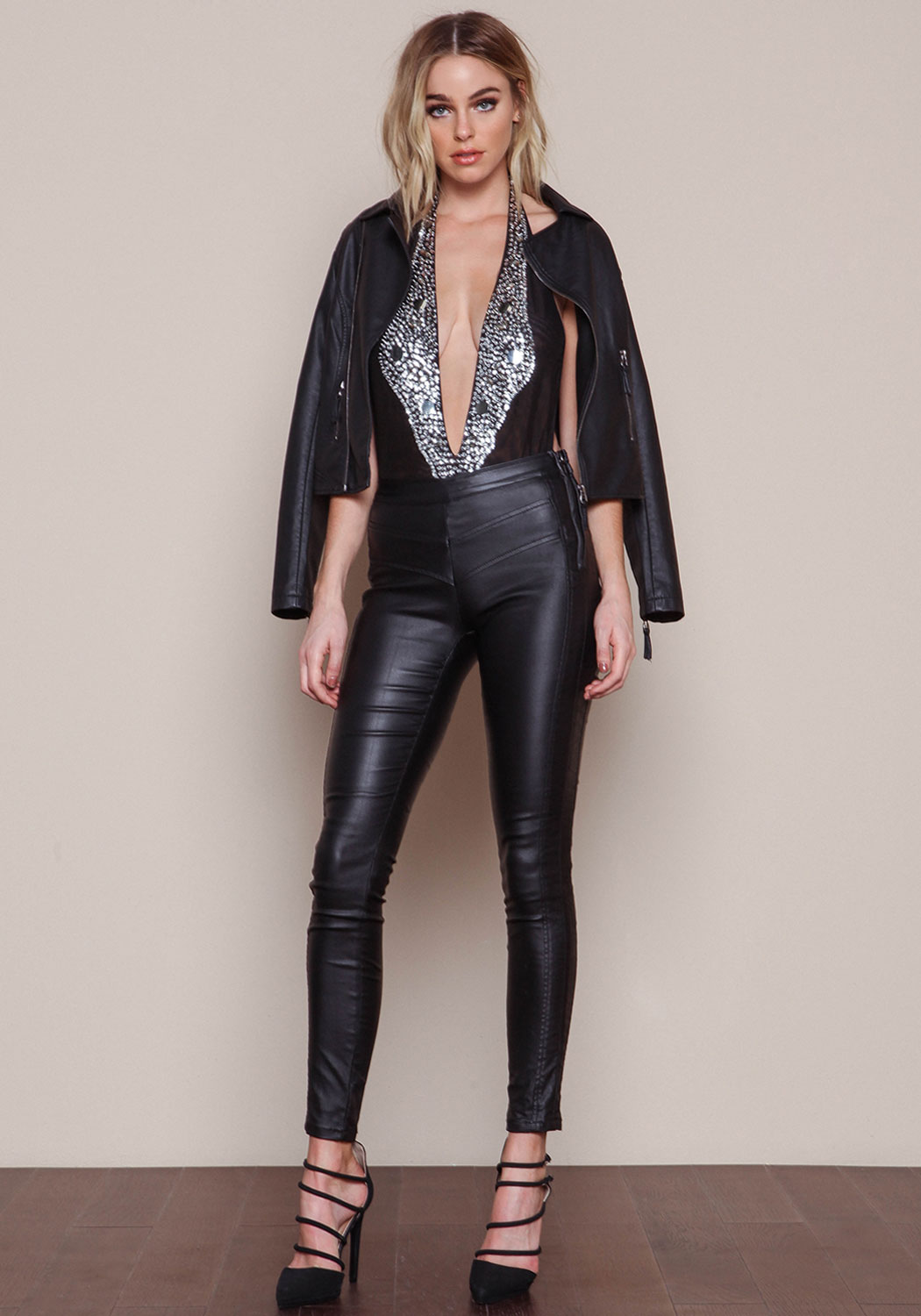 Lovely Ladies In Leather Elizabeth Turner In Leather Pants
