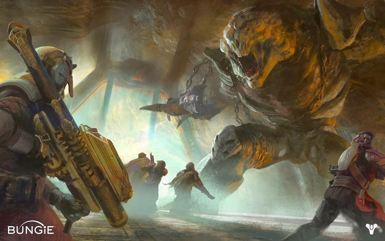 Destiny Cave Troll concept art