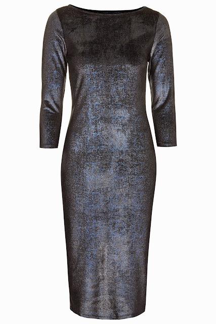 navy glitter dress