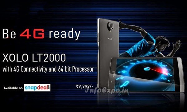 XoloLT2000: 4G,1.2 GHz Quad Core Snapdragon 410 Android Phone Specs, Price