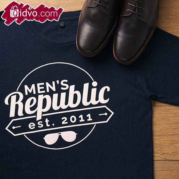 Kaos Lengan Pendek Men's Republic Texas - Warna Navy Blue