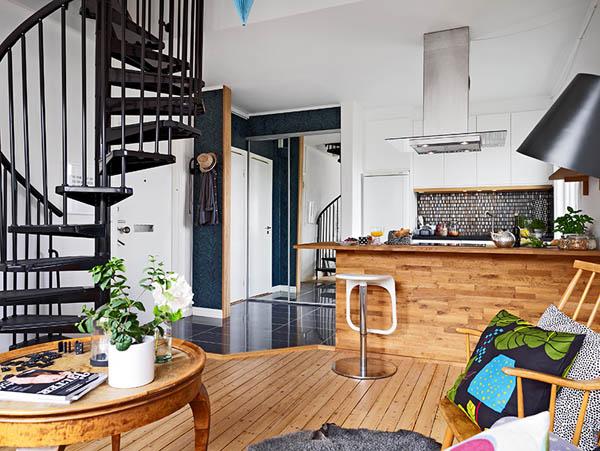 Hogares frescos apartamento de dos pisos ingeniosamente - Pisos con encanto madrid ...