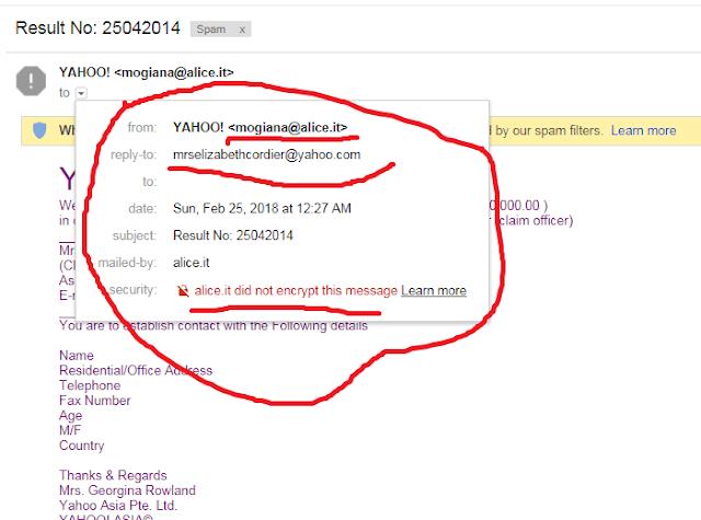 yahoo dating spam