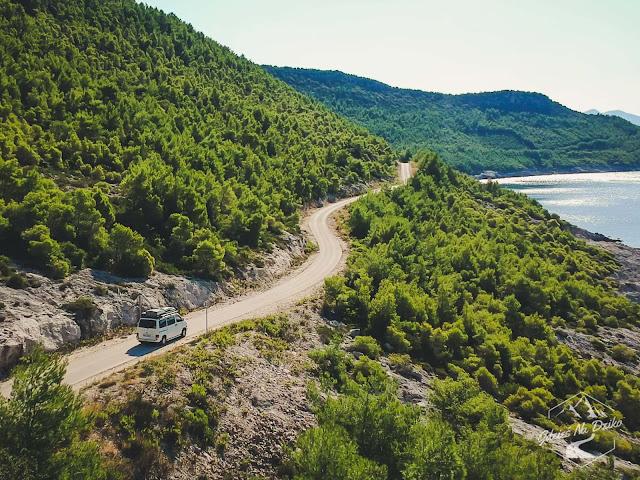 Droga na Chorwackim wybrzeżu