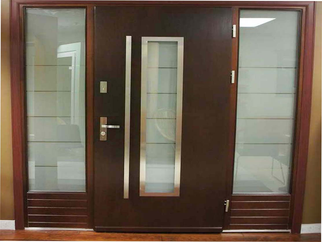 Contemporary front doors materials options for your house for Modern front doors