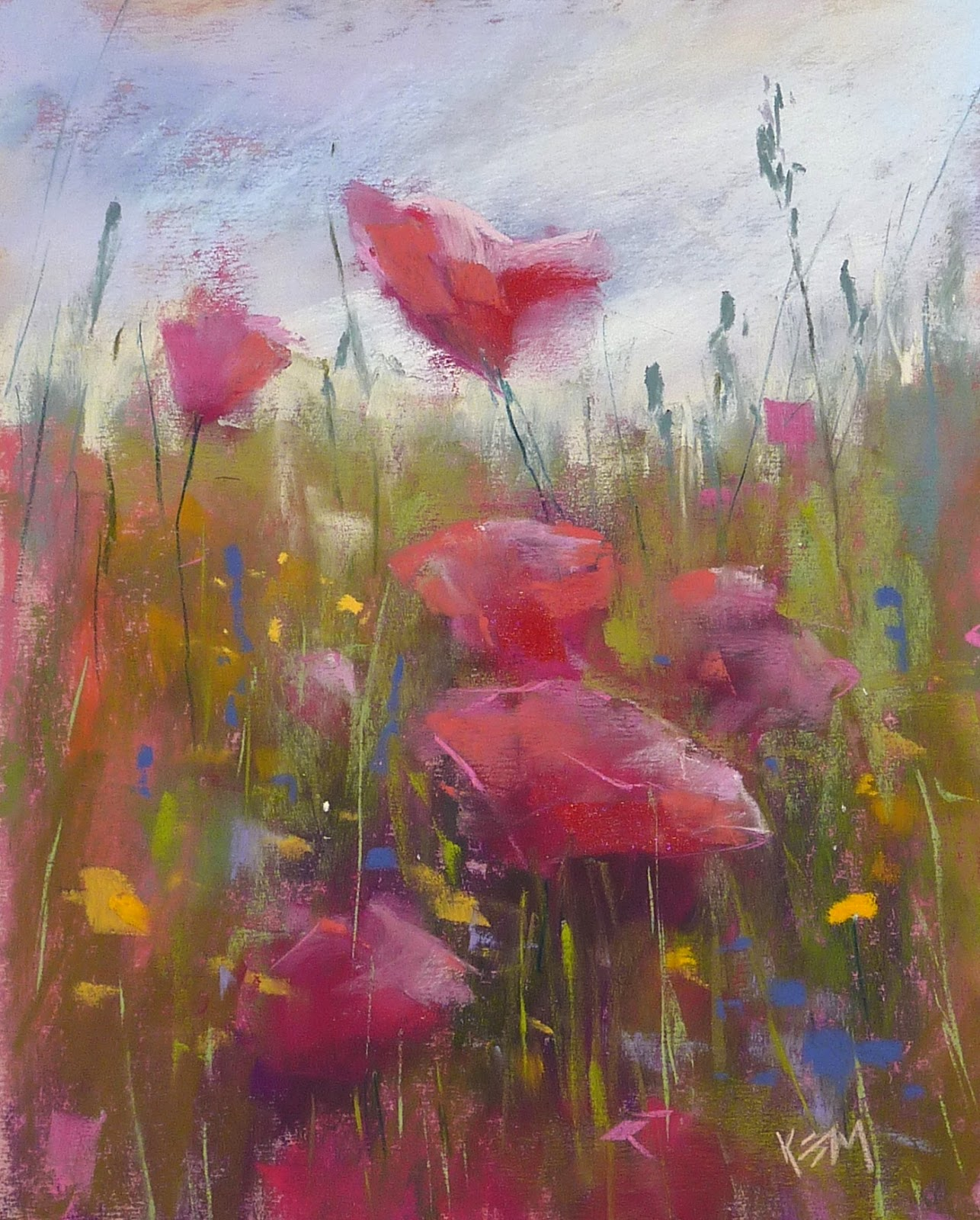 Painting My World Paint Along Monday Painting A Poppy Meadow