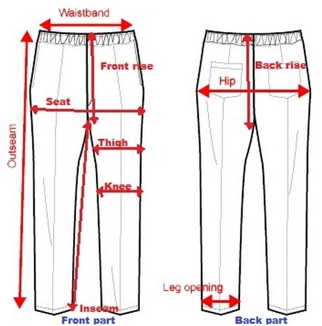 Size measurement of pant