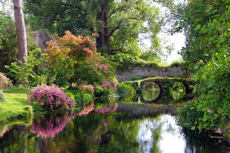 Garden on Ninfa, Italy
