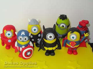 bolo aniversário Minions Super Heroes