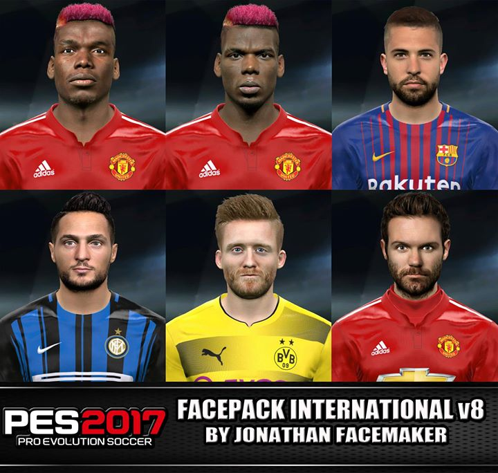 Facepack International v8 PES 2017 by Jonathan Facemaker