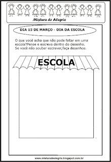 Desenho de escola