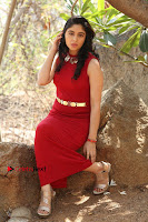 Telugu Actress Zahida Sam Latest Pos in Red Gown at RF Films New Movie Opening  0261.JPG